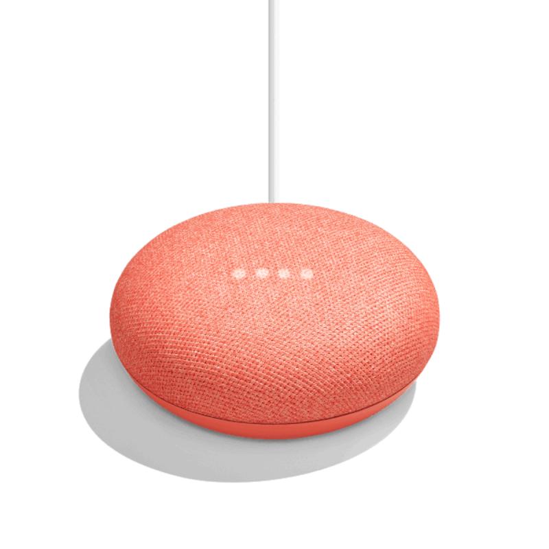 Google - Google Home Mini chalk 家居助理 橙色 Coral speaker 喇叭