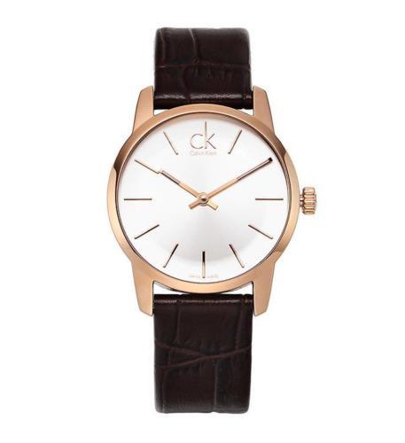 Calvin Klein CITY 城市經典玫瑰金簡約腕錶 [K2G23620]
