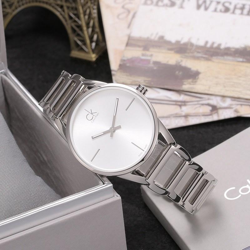 Calvin Klein 璀璨系列 時尚鏤空手環腕錶 [K3G23126]