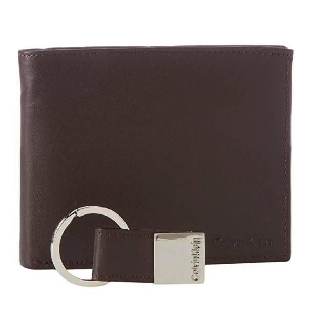 Calvin Klein Classic Leather Wallet 銀包連皮革鎖匙扣禮盒 [3色]