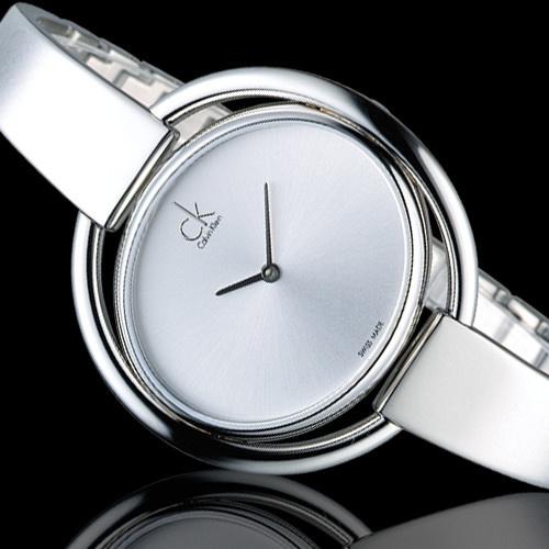 Calvin Klein 時尚銀手環腕錶 [K4F2N116]