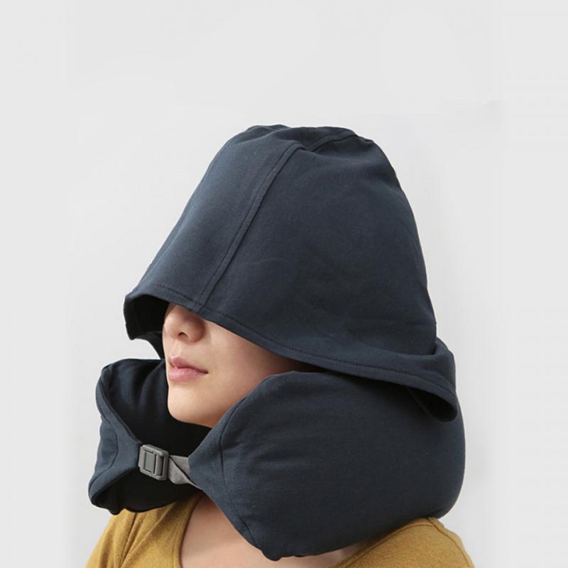 U型旅行護頸枕連帽 [2色]