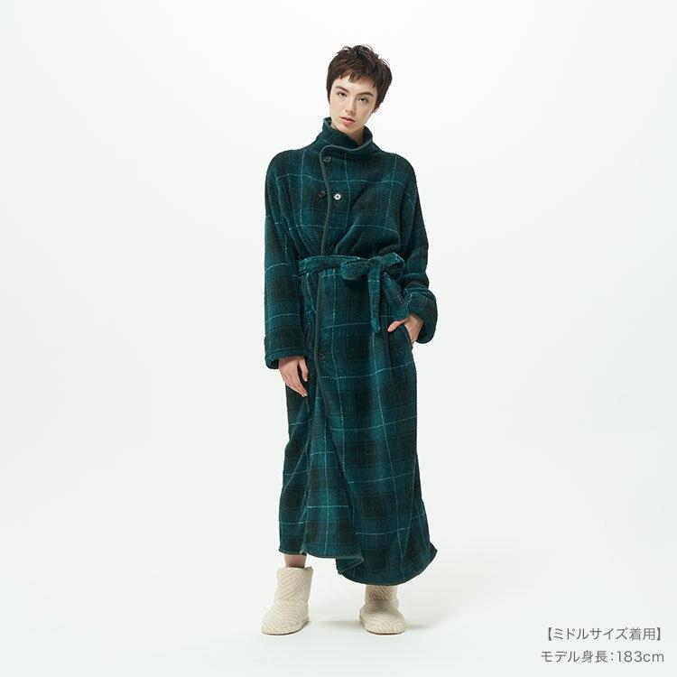 日本groony防寒着る毛布男女兼用晨褸 [3尺寸][6色]