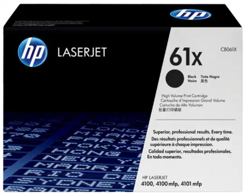 HP 61X 黑色 LaserJet 碳粉盒 (C8061X)