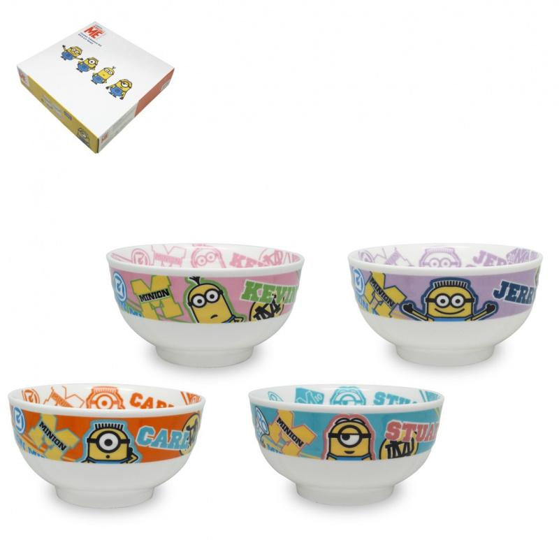 迷你兵團Minions/ tsumtsum 4P陶瓷禮盒套裝
