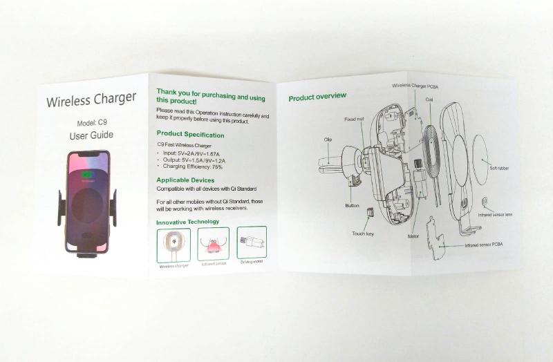 C9 汽車自動伸縮車架 Fast Wireless Rapid Charger