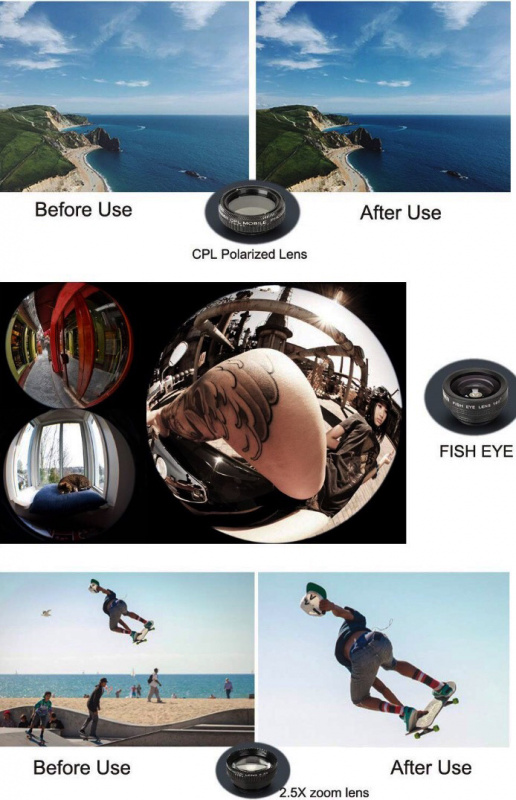 5 in 1 mobile phone lens