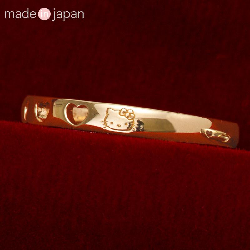 日本SANRIO Hello Kitty 鉑金/18K介指 [2款][3尺寸]