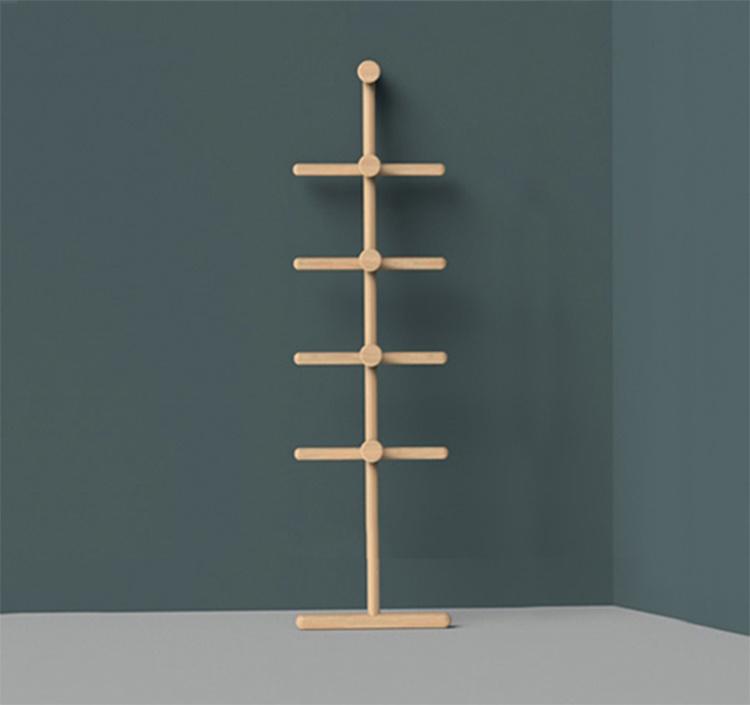 靠牆梯形衣帽架 [3色]