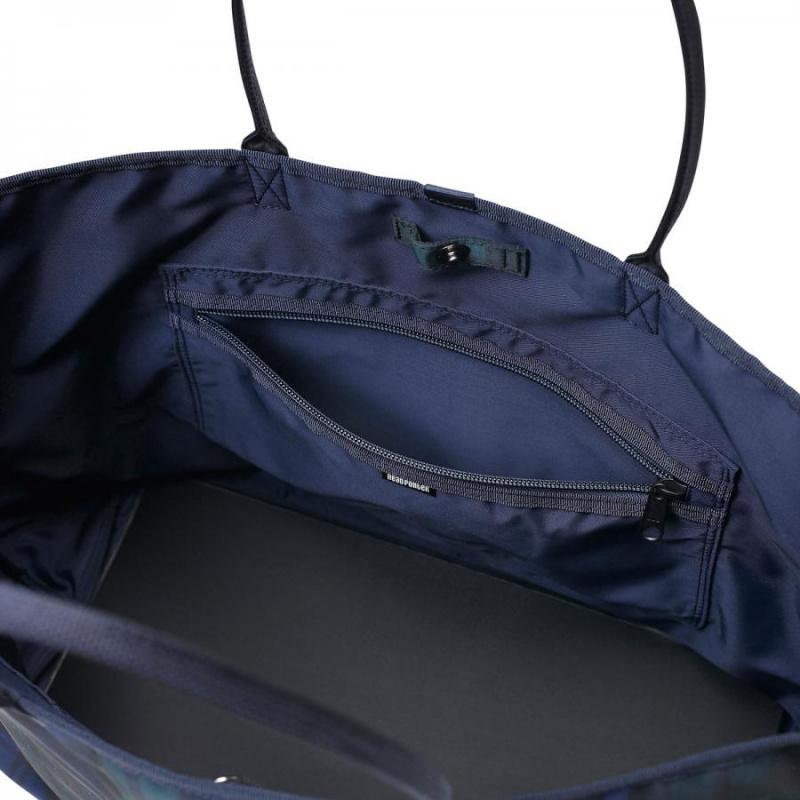 日本HEADPORTER 綠色格仔Tote Bag