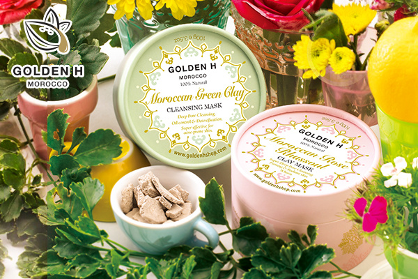 Golden H 摩洛哥玫瑰精華礦物岩泥淨膚面膜100g【市集世界】