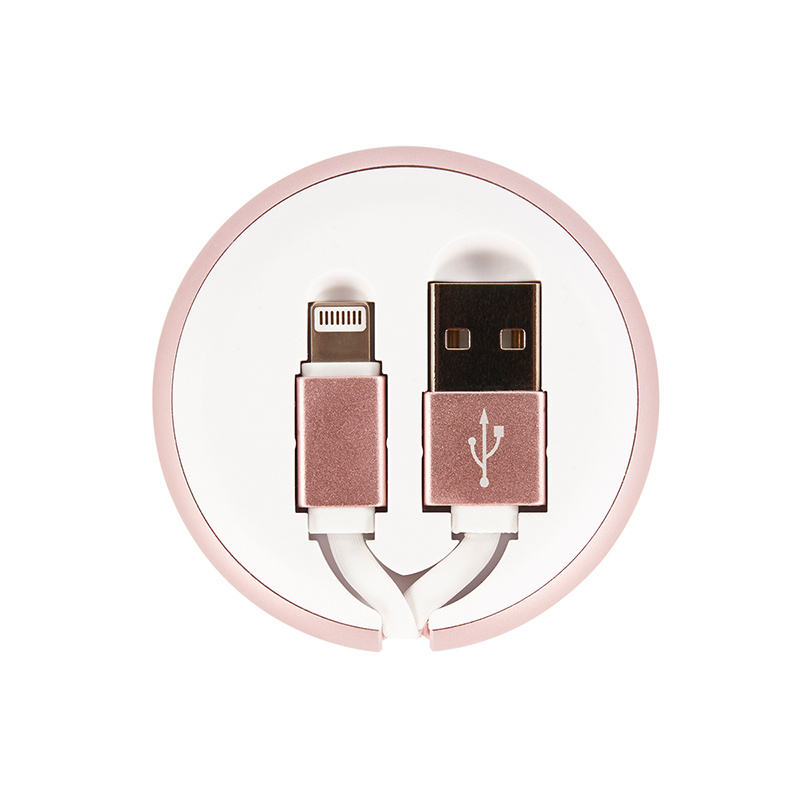 Richmond & Finch Cable Winder - White Marble Case with Type C to USB Connector (CWTYPE-014)