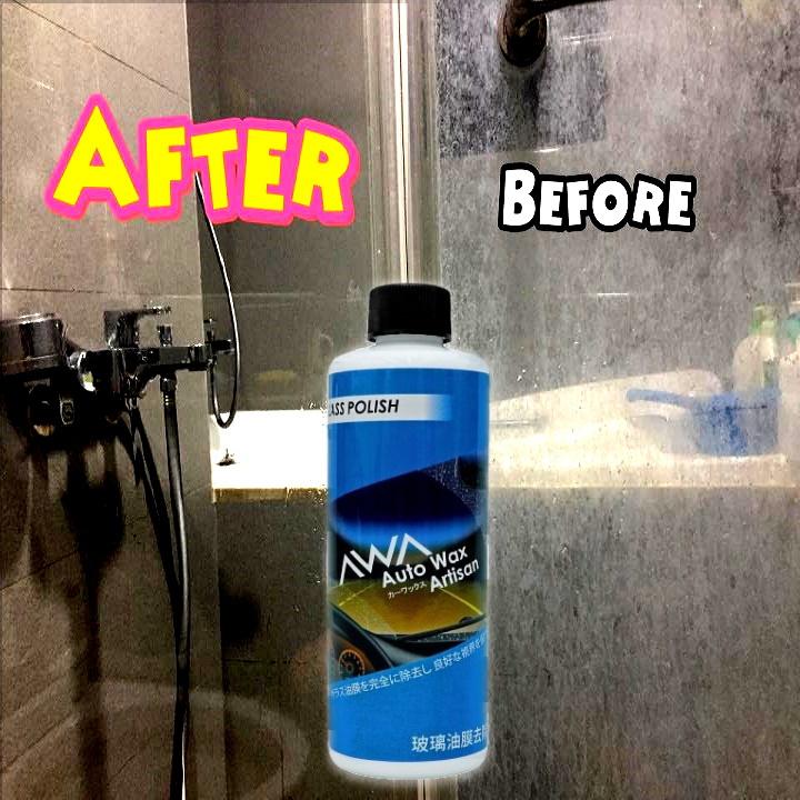 台灣AWA玻璃油膜水漬去除劑│輕鬆去除玻璃污漬│回復透亮零水漬│浴室鏡面、汽車玻璃都適用 (250ML)