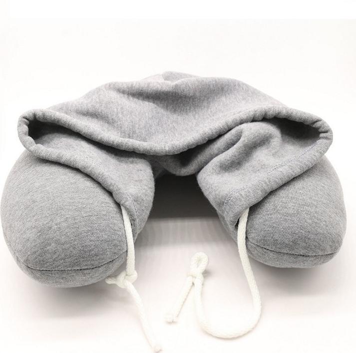 YCY日系超舒適連帽頸枕 - 灰色