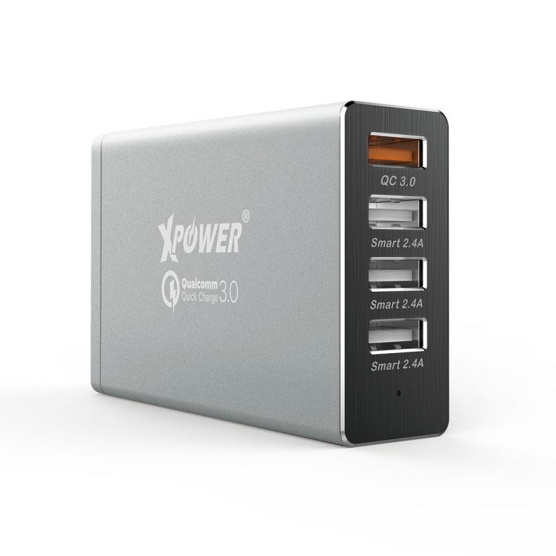 Xpower - DC4Q第2代 快充3.0 智能充電器 - 銀色
