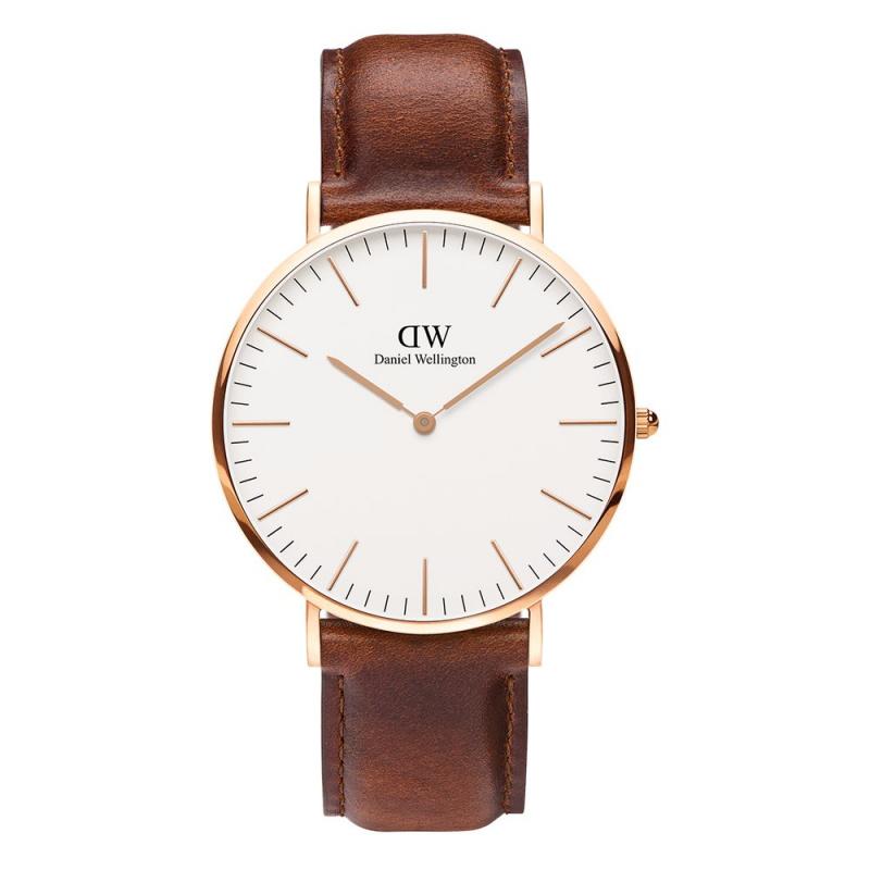 Daniel Wellington Classic St Mawes 皮帶手錶 36mm/40mm [2色]