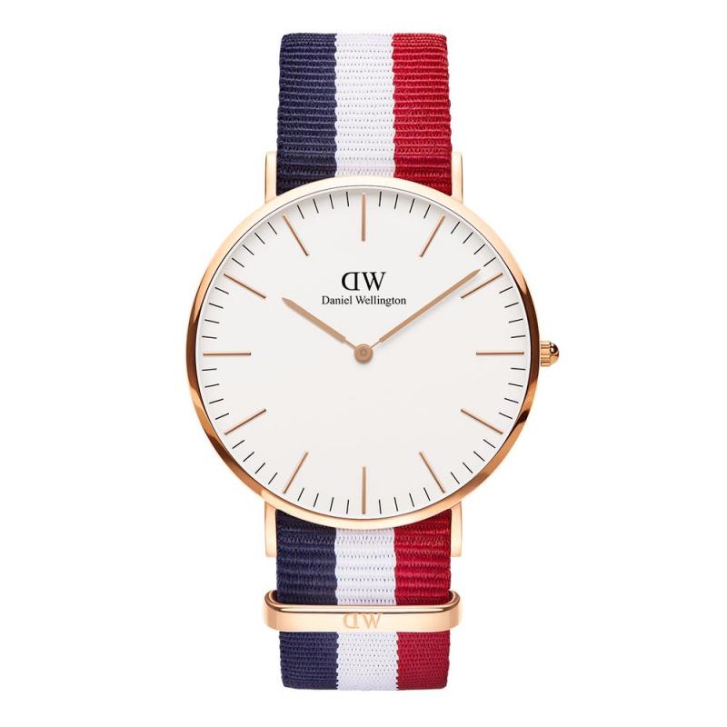 Daniel Wellington Classic Cambridge 尼龍錶帶手錶 40mm [2色]