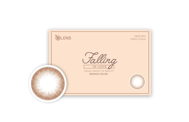 韓國Olens Color 隱形眼鏡 Falling In Love Brown(月拋)