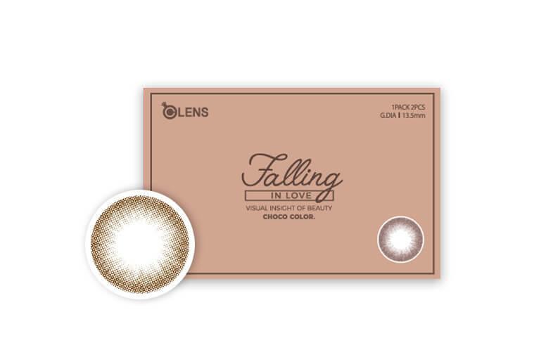 韓國Olens Color 隱形眼鏡 Falling In Love Choco(月拋)