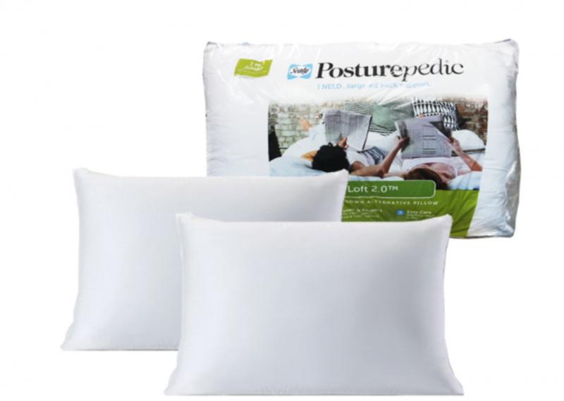Sealy Posturepedic 彈性枕頭 [2個裝][珍寶尺寸]