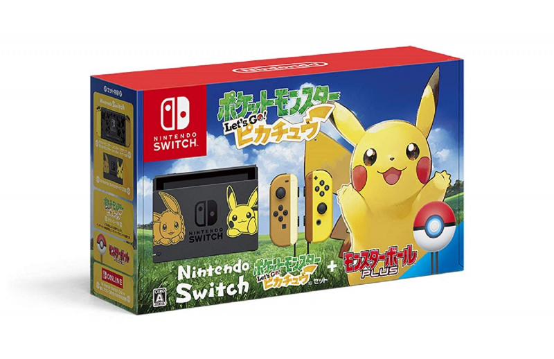 [預售產品] Nintendo - Switch Pokemon 寵物小精靈 精靈寶可夢 Let's Go 比卡超/伊貝 特別版主機 日本版(附Monster Ball Plus) + LCD保護膜