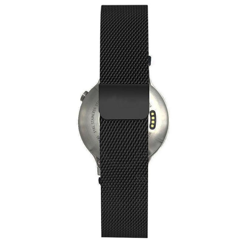 Ticwatch2 20mm磁鐵扣錶帶不銹鋼錶帶
