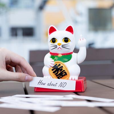 日本LocomoceanLUCKY CAT中指幸運招財貓