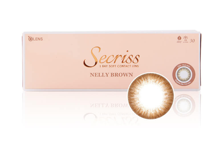 韓國Olens Color 隱形眼鏡 Secriss Nelly Brown 30片 (日拋)