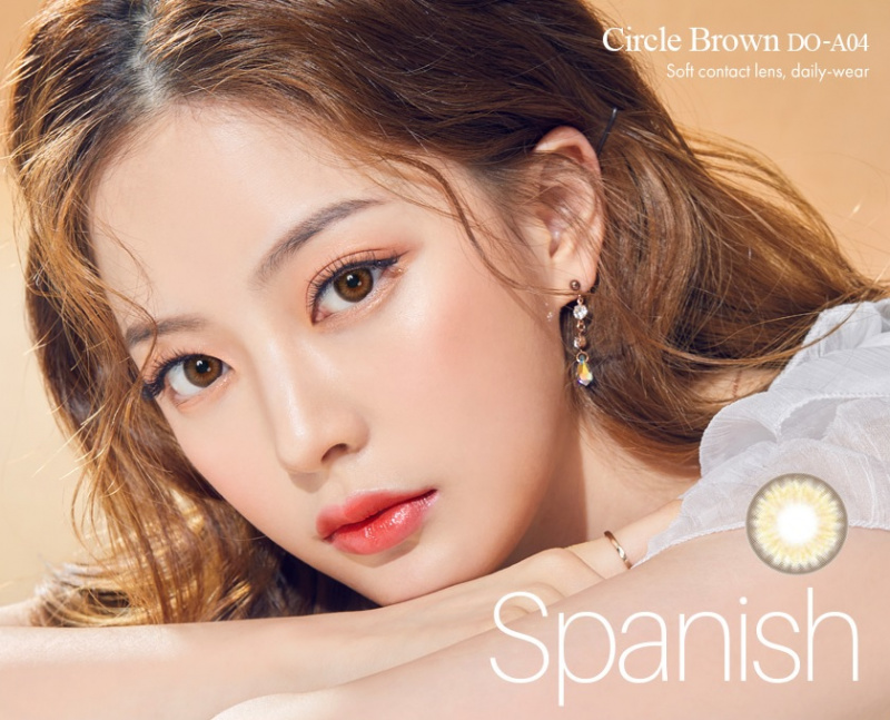 韓國Olens Color 隱形眼鏡 Spanish Circle Brown(月拋)