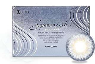 韓國Olens Color 隱形眼鏡 Spanish Circle Gray(月拋)