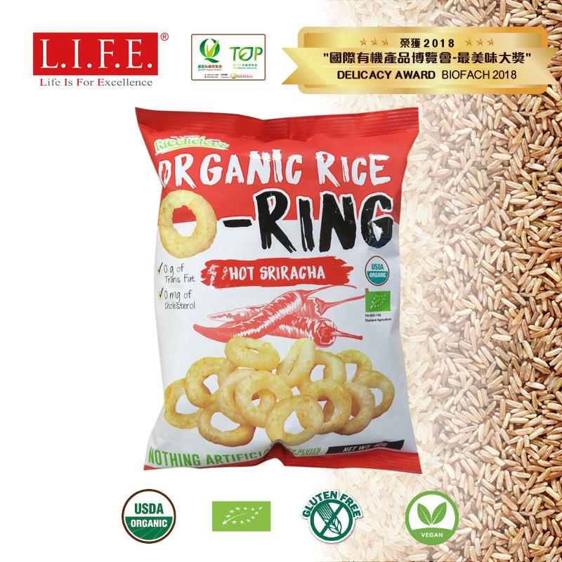 有機低糖香米脆米小食 40g (香辣是拉差)