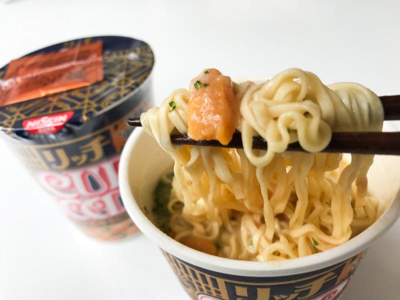 日本日清合味道CUP NOODLE 豪華版濃厚海膽忌廉杯麵
