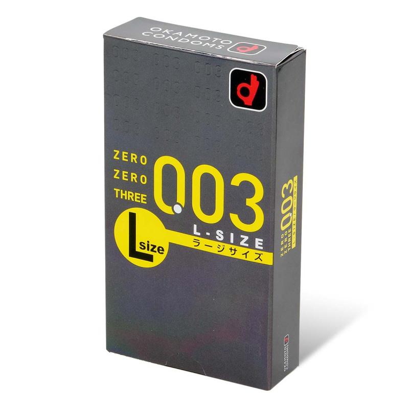 岡本。零零三 0.03 大碼 (日本版) 58mm 10 片裝 乳膠安全套