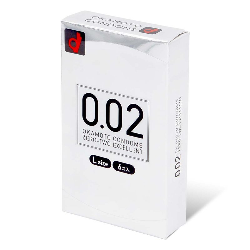 岡本 薄度均一 0.02EX 大碼 (日本版) 58mm 6 片裝 PU 安全套