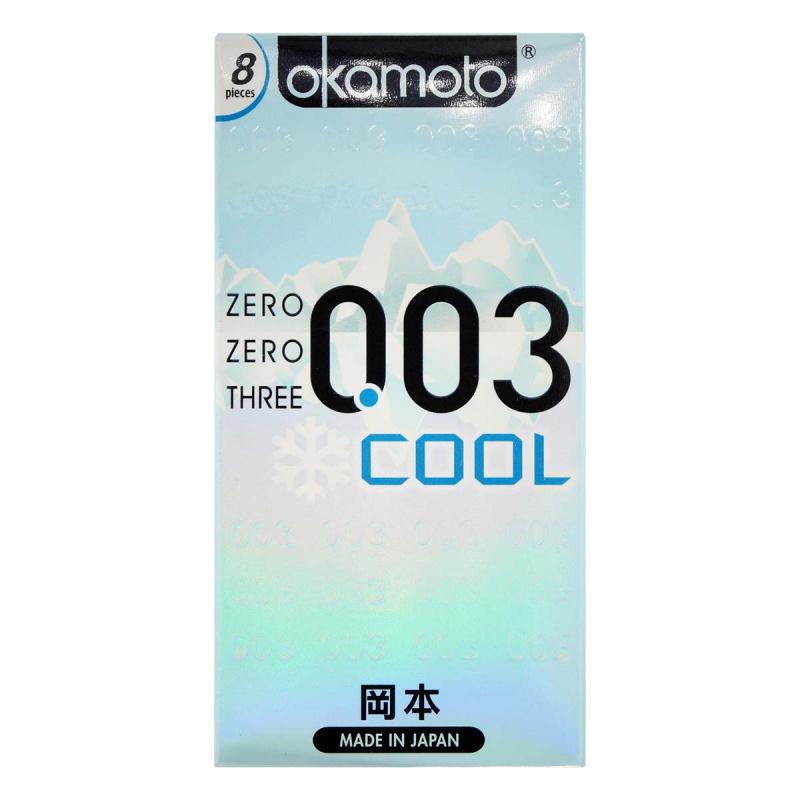 岡本 0.03 冰涼 8片裝 乳膠安全套
