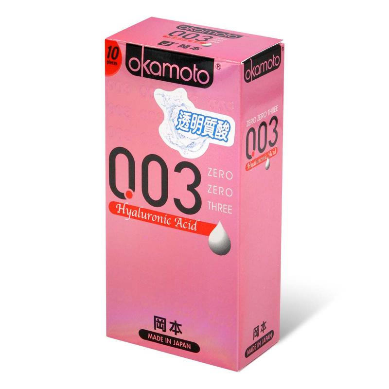 岡本 0.03 透明質酸 10 片裝 乳膠安全套
