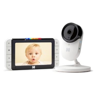 Kodak CHERISH C520智能嬰兒5吋屏幕高清監視器【順豐站/工商免運】