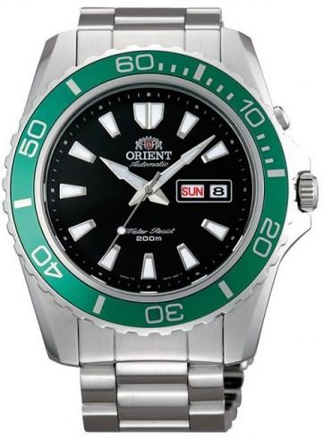ORIENT 東方 FEM75003B 綠圈 200m機械潛水錶