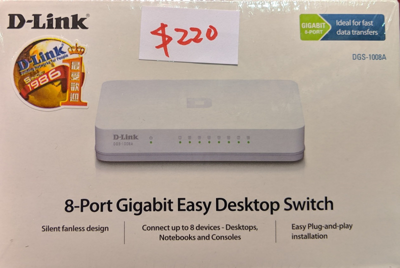 D-Link DGS-1008A 8-Port Gigabit Switch