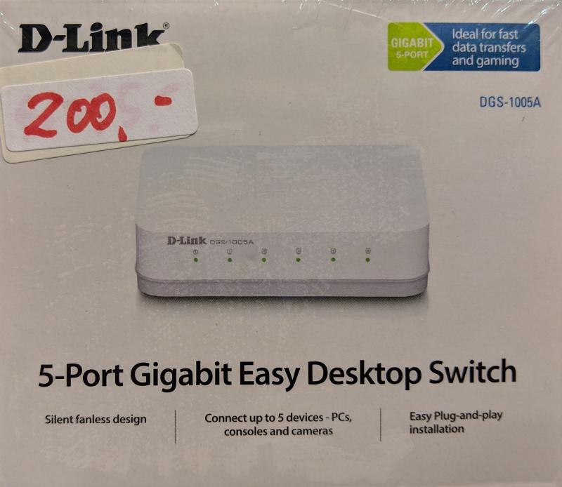 D-Link DGS-1005A 5-Port Gigabit Switch