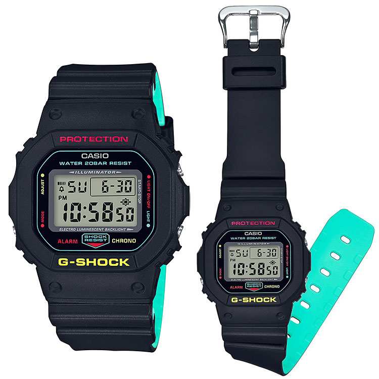 Casio G-Shock DW-5600CMB-1 膠帶手錶