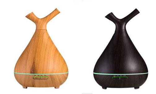 Lohas - 創意木紋樹枝香薰機(木紋黃/木紋黑)