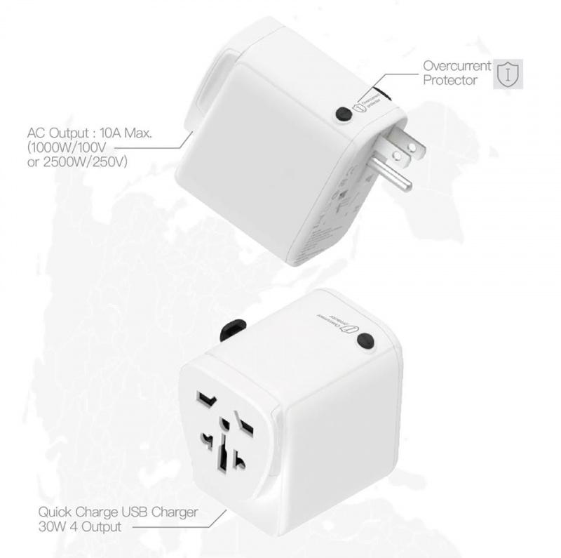 SuperV G51 快充旅行轉插充電器 [2色]