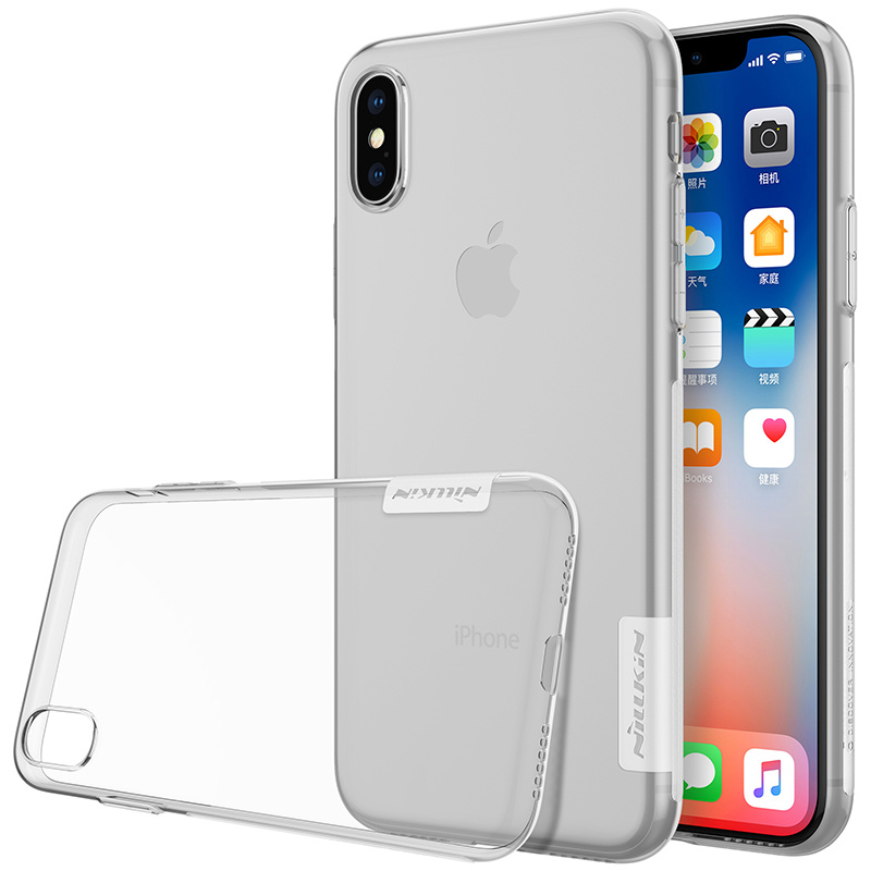 Nillkin iPhone X/Xs 防滑0.6mm TPU透明手機保護套(4色)