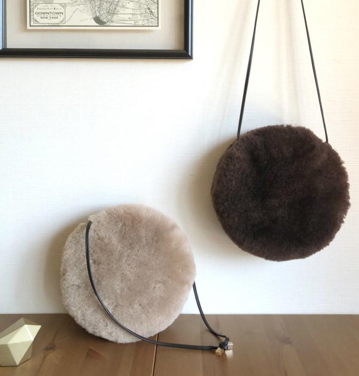 日本マカロンバッグ毛毛肩揹袋 [4色]