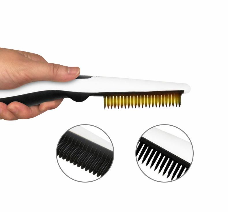 USB恆溫直髮卷髮梳 [2色]