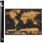 Large World Scratch Map Home Decoration 旅行地圖裝飾冊