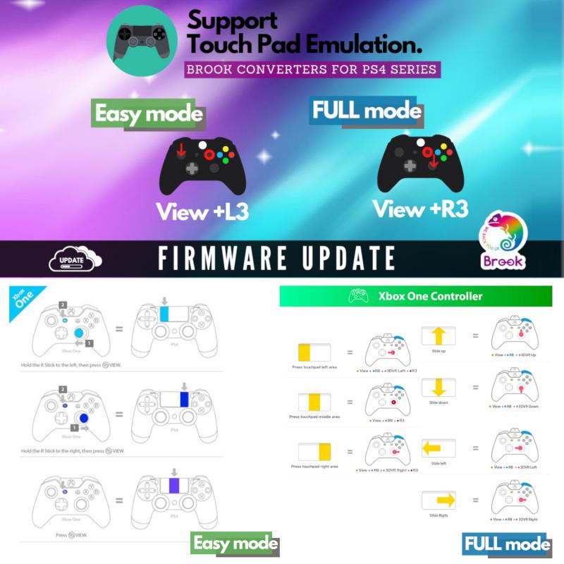 Brook Super Converter Xbox Series S/X/Xbox One手制轉PS4遊戲機跨平台轉換器 支持在PS5主機上玩PS4兼容遊戲