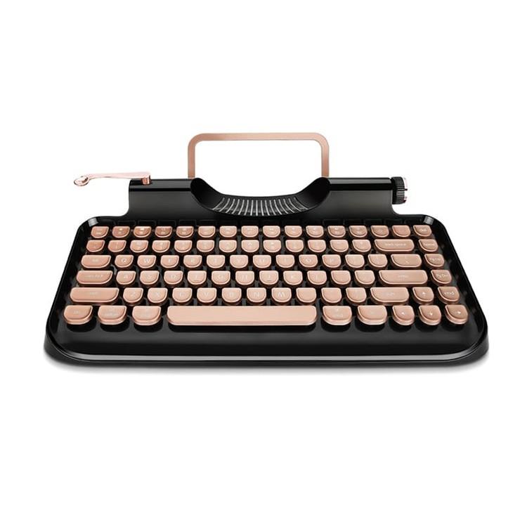 Rymek復古打字機型藍芽USB二合一鍵盤[豪華版][2色]