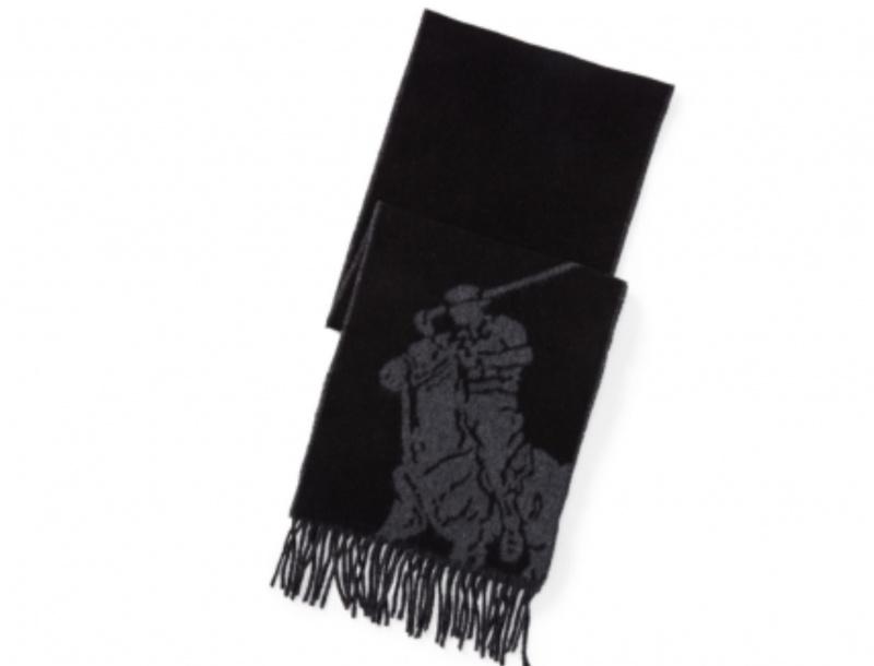 Ralph Lauren POLO 小馬提花新款圍巾[2色]